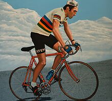 Eddy Merckx painting by PaulMeijering