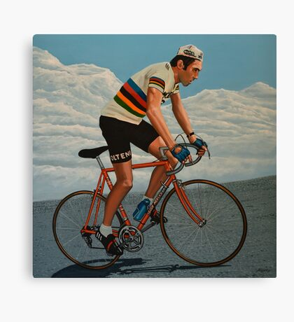 Eddy Merckx painting Canvas Print