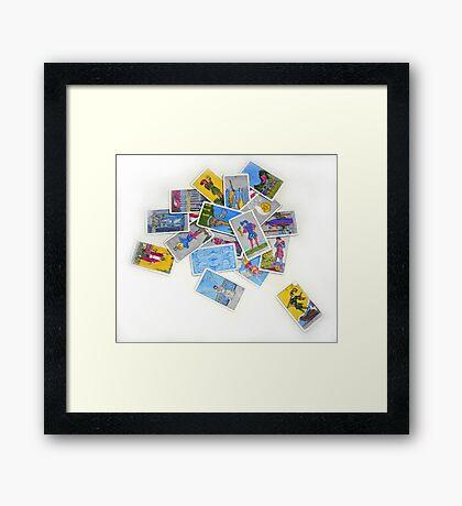 Chaotic Arrangement of Tarot Cards Framed Print