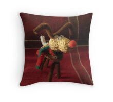 Peanut, the Helpful Reindeer Throw Pillow