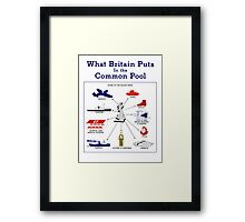 What Britain Puts In The Common Pool -- WWII Framed Print