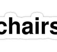 chairs Sticker