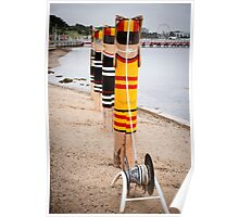 Bollard Series 2 - Eastern Beach Geelong Poster