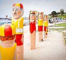 Bollard Series 2 - Eastern Beach Geelong by melissagavin
