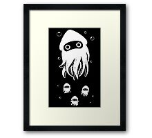 Happy Squid Family Framed Print