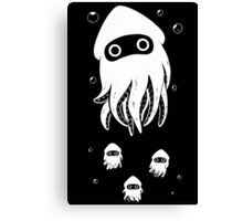 Happy Squid Family Canvas Print
