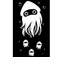 Happy Squid Family Photographic Print
