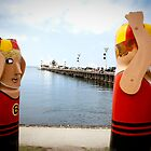 Bollard Series 2 - Eastern Beach Geelong by melissagavin
