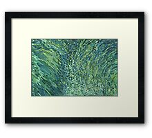 Glittering Waterfall in Blues & Greens Margaret Juul Framed Print