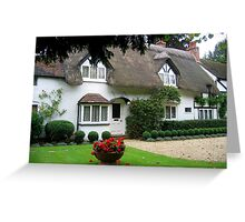 Welford Cottage, Warwickshire, England Greeting Card