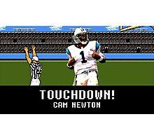 Tecmo Bowl Touchdown Cam Newton Photographic Print