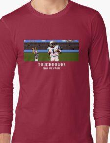 Tecmo Bowl Touchdown Cam Newton Long Sleeve T-Shirt