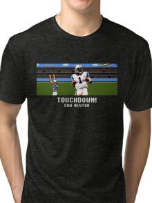 Tecmo Bowl Touchdown Cam Newton Tri-blend T-Shirt