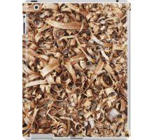 Wooden shavings background iPad Case/Skin