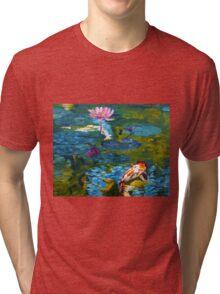 Tranquil Koi Lily Pond Tri-blend T-Shirt