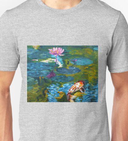 Tranquil Koi Lily Pond Unisex T-Shirt