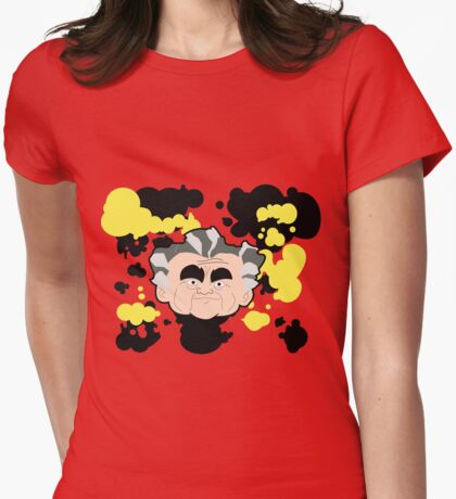 Kirby Crackle Womens Fitted T-Shirt