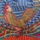 317 - COCKEREL DESIGN - DAVE EDWARDS - COLOURED PENCILS - 2011 by BLYTHART