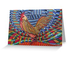 317 - COCKEREL DESIGN - DAVE EDWARDS - COLOURED PENCILS - 2011 Greeting Card