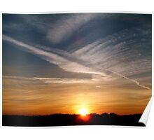 Pirton Sunset Poster