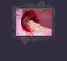 Hibiscus Moscheutos named Luna Pink Swirl Womens Fitted T-Shirt