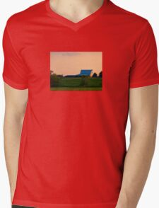 Country Field Mens V-Neck T-Shirt