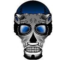 Dia De Los Muertos, Savage Blue Photographic Print