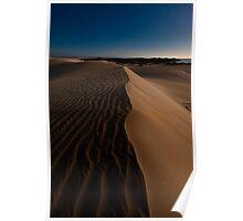 Moonlit Dunes Poster
