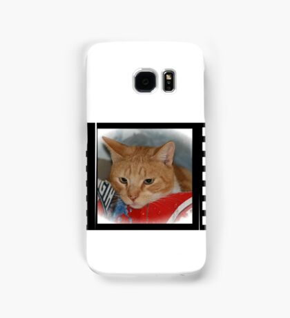 Ginger Puss in a box Samsung Galaxy Case/Skin