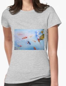 Tranquility in Familiar Numbers Womens Fitted T-Shirt