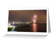 Geelong Audi Week Fireworks Greeting Card