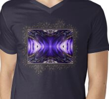 Blue Poppy Fish Abstract Mens V-Neck T-Shirt