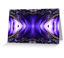 Blue Poppy Fish Abstract Greeting Card