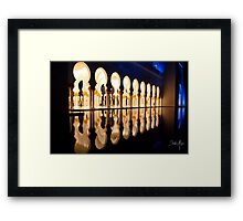 night reflection  Framed Print