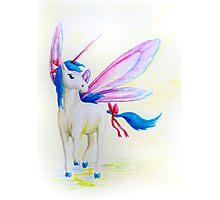 Blue Mane Fairy Unicorn  Photographic Print