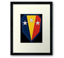 "50th Infantry Brigade Combat Team ""Jersey Blues"" (United States) Framed Print"