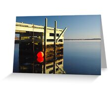 Calm morning at the jetty Greeting Card