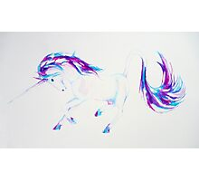 Majestic Unicorn Purple and Blue Photographic Print