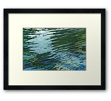 Sawgrass Lake in The Spring Lake Reflections Margaret Juul Framed Print