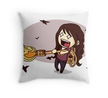The Bird Flamer Throw Pillow