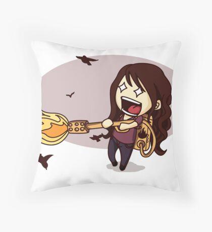The Bird Flamer Throw Pillow