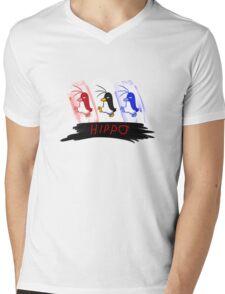 Hippo the Penguin! Mens V-Neck T-Shirt