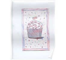 4th of July Cupcake Poster