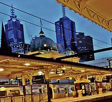 flinders street station, melbourne by MAGDALENE CARMEN