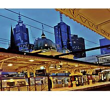 flinders street station, melbourne Photographic Print