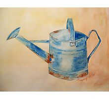Blue Watering Can Photographic Print