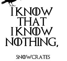 I know that I know nothing by Ward Designs