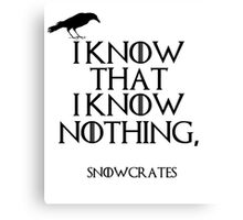 I know that I know nothing Canvas Print