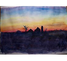Midwest Winter Sunset Photographic Print