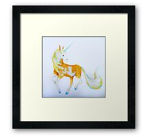 Pinto Palomino Unicorn  with Blue  Framed Print